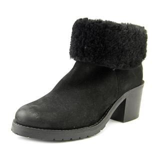 Steven Steve Madden Women's Havek Black Nubuck Boots