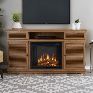 Real Flame Cavallo Elm Solid Wood and MDF Fireplace Entertainment Center