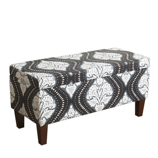 HomePop Bailey Storage Bench Midnight Blue