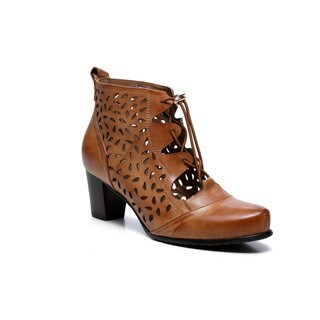 Vicenzo Leather Women's Shae Preforated Ankle Booties