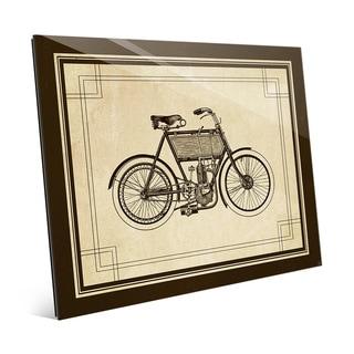 Vintage Bike' Glass Ready-to-hang Horizontal Wall Art
