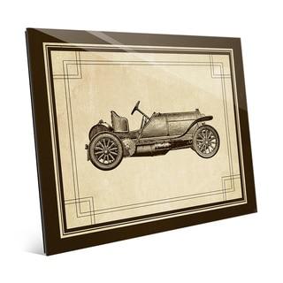 Vintage Race Car Glass Wall Art
