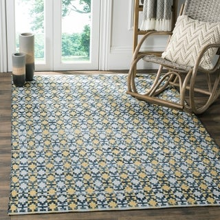 Safavieh Hand-Woven Montauk Flatweave Gold / Multicolored Cotton Rug (9' x 12')