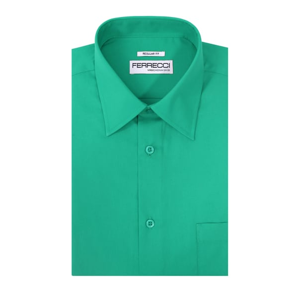 Ferrecci Mens Virgo Regular-fit Premium Dress Shirt