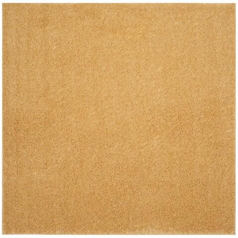 "Safavieh Arizona Shag Southwestern Gold Rug - 6'7"" x 6'7"" Square"