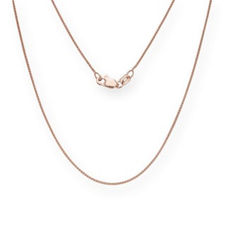 14k Rose Gold 18-inch 0.6-millimeter Wheat Chain Necklace