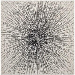 Safavieh Evoke Vintage Abstract Burst Black/ Ivory Distressed Rug (6' 7 Square)
