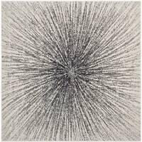 "Safavieh Evoke Vintage Abstract Burst Black/ Ivory Distressed Rug - 6'7"" x 6'7"" square"