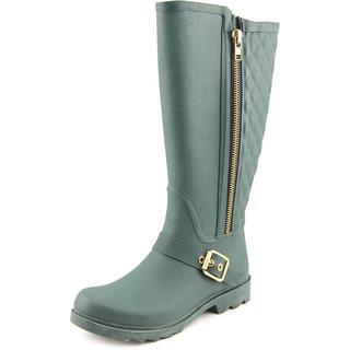 Steve Madden Women's 'Northpol' Light Green Rubber Knee-high Rain Boots
