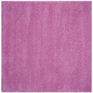 Safavieh Santa Monica Shag Pink Rug (7' Square)