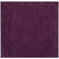 Safavieh Santa Monica Shag Purple Rug - 7' Square
