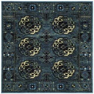 Safavieh Vintage Hamadan Traditional Blue/ Multicolored Rug (7' Square)