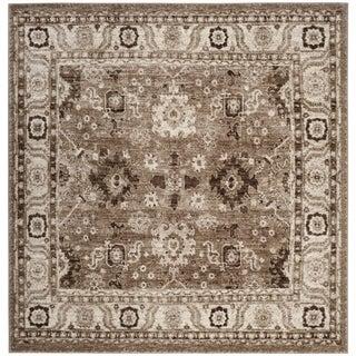 Safavieh Vintage Hamadan Traditional Taupe Distressed Rug (7' Square)