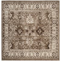 Safavieh Vintage Hamadan Traditional Taupe Distressed Rug - 7' Square