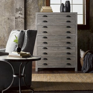 Gilmore Grey Wood 5-Drawer Chest