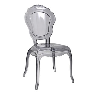 Fidora Transparent Gray Side Chair