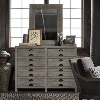 Universal Gilmore Grey Wood 8-drawer Dresser