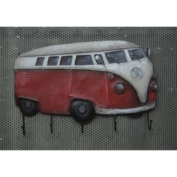 Urban Port Rustic Red/White Van Wall Hooks