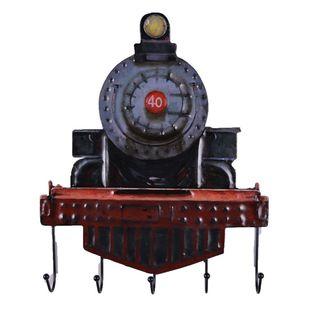 Urban Port Multicolored Iron Rustic Rail Engine Wall Hooks