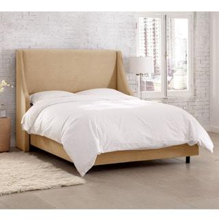 Skyline Furniture Velvet Buckwheat Swoop Arm Wingback Bed