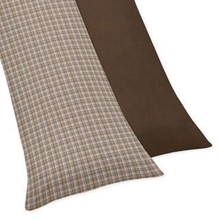 Sweet Jojo Designs Chocolate Teddy Bear Collection Body Pillow Case