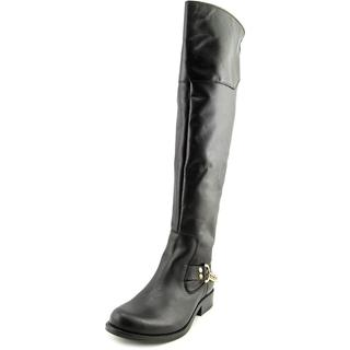 Steve Madden Women's 'Olgga' Black Leather Boots
