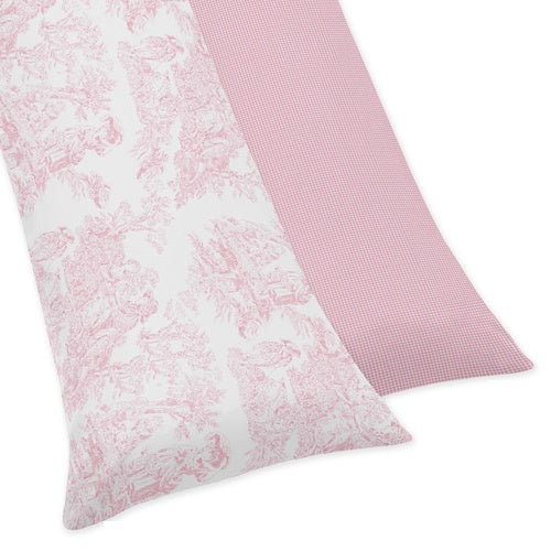 Sweet Jojo Designs Pink French Toile Collection Body Pillow Case