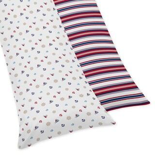 Sweet Jojo Designs Nautical Nights Collection Body Pillow Case