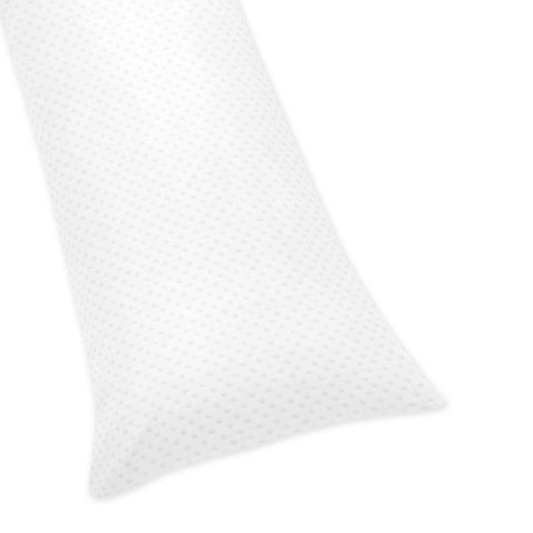Sweet Jojo Designs White Minky Dot Body Pillow Case