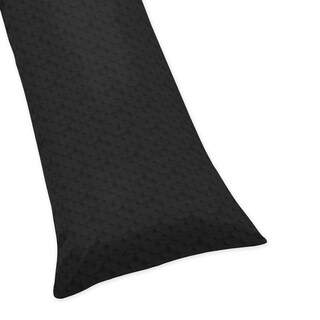 Sweet Jojo Designs Black Minky Dot Collection Body Pillow Case