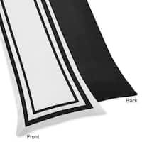 Sweet Jojo Designs White and Black Hotel Body Pillow Case