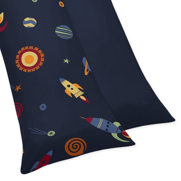 Sweet Jojo Designs Space Galaxy Body Pillow Case