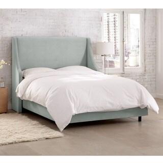 Skyline Furniture Velvet Pool Swoop Arm Wingback Bed