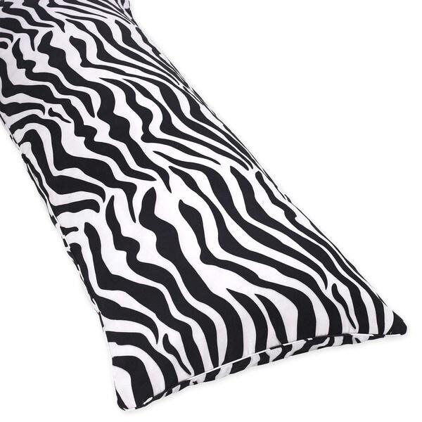 Sweet Jojo Designs Purple Funky Zebra Body Pillow Case