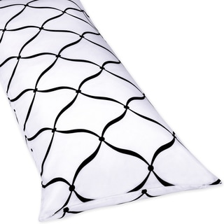 Sweet Jojo Designs Black, White and Pink Princess Body Pillow Case