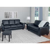 CorLiving Jazz 2-piece Bonded Leather Sofa Set