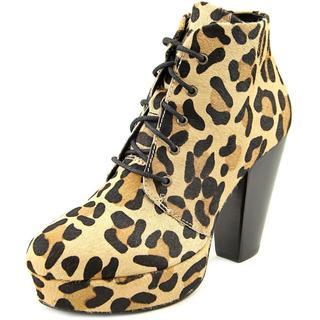 Steve Madden Women's Raspy Brown Haircalf Boots