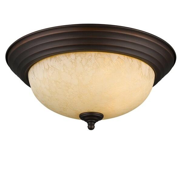 Golden Lighting Rubbed-bronze Steel Multi-family Flush Mount Fixture
