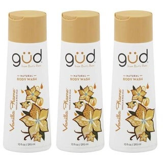 Gud from Burt's Bees Vanilla Flame Natural 10-ounce Body Wash (Pack of 3)
