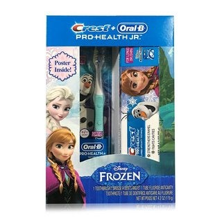 Crest and Oral-B Pro-Health Jr. Disney Frozen Toothpaste and Toothbrush plus Poster
