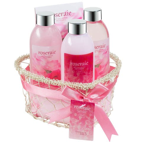 Rosarie! Spa Bath and Body 4-piece Gift Set - PInk