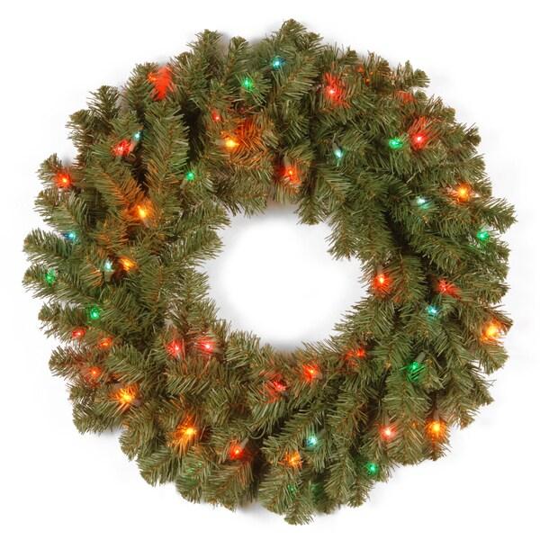 Kincaid Spruce 24-inch Multicolor Light Wreath