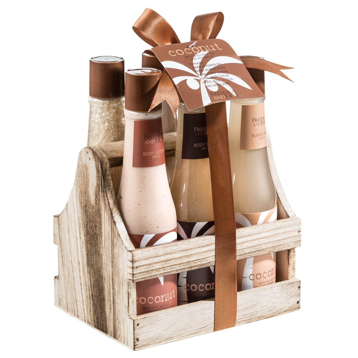 Tropical Milky Coconut Bath and Body 6-piece Spa Gift Set...