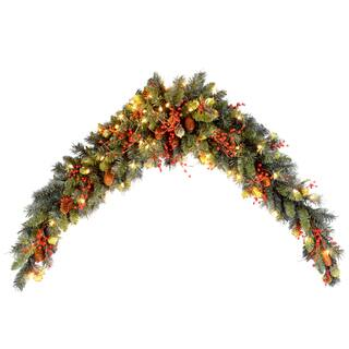 Classical Collection 6-foot Mantel Swag with Clear Lights|https://ak1.ostkcdn.com/images/products/12754669/P19530795.jpg?impolicy=medium