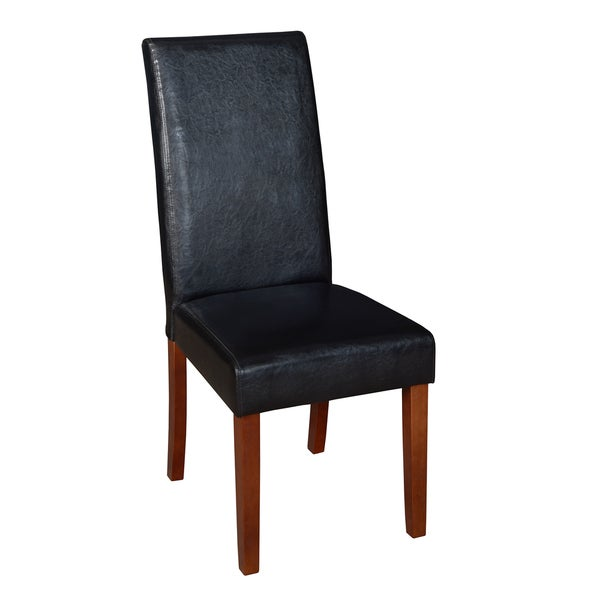niche tyler black vinyl wood dining room chair free