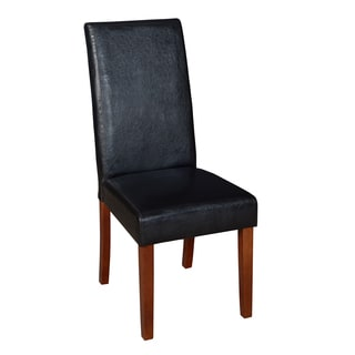 Niche Tyler Black Vinyl/Wood Dining Room Chair
