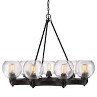 Golden Lighting's #4855-9 RBZ-SD Galveston 9-light Chandelier