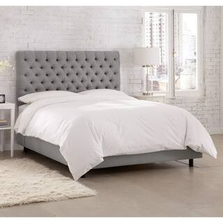 Linen Grey Tufted Bed- Skyline Furniture|https://ak1.ostkcdn.com/images/products/12754692/P19530829.jpg?impolicy=medium