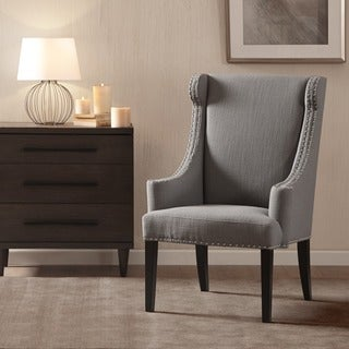 madison park lucy taupe high back wing chair