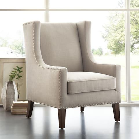 Madison Park Weston Linen Wing Chair
